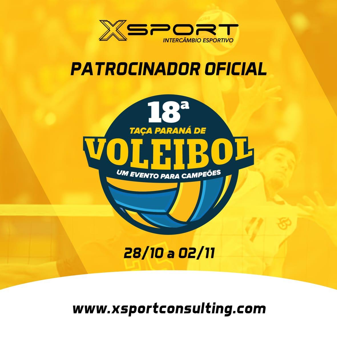 XSPORT fecha parceria com a Taça Paraná de Voleibol e terá representante no evento.