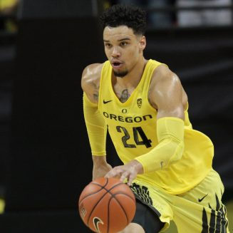 Feb 4, 2017; Eugene, OR, USA; Oregon Ducks forward Dillon Brooks (24) moves the ball down the court in the second half against the Arizona Wildcats at Matthew Knight Arena. Mandatory Credit: Scott Olmos-USA TODAY Sports